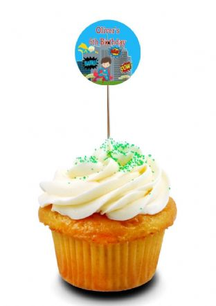 Superhero Cupcake Picks/Toppers